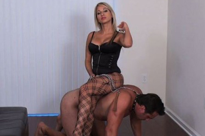 Seductive blonde curvy girl and her slave 28  that was making him very nervous but at the same time he noticed that his penis is getting rock violent. That was making him very nervous but at the same time he noticed that his penis is getting rock hard.