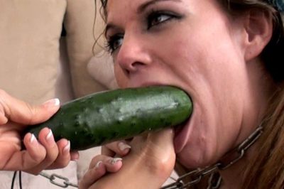 Two girls have fun with a cucumber 51. High quality videos show just what kind of poses is this servile slave girl obligated to take while her femdom is having fun, they range from reverse cowgirl cucumber ride to a hardcore masturbate with spicy hot spanking that leaves anal of the poor girl all red and her cunt throbbing with pleasure.